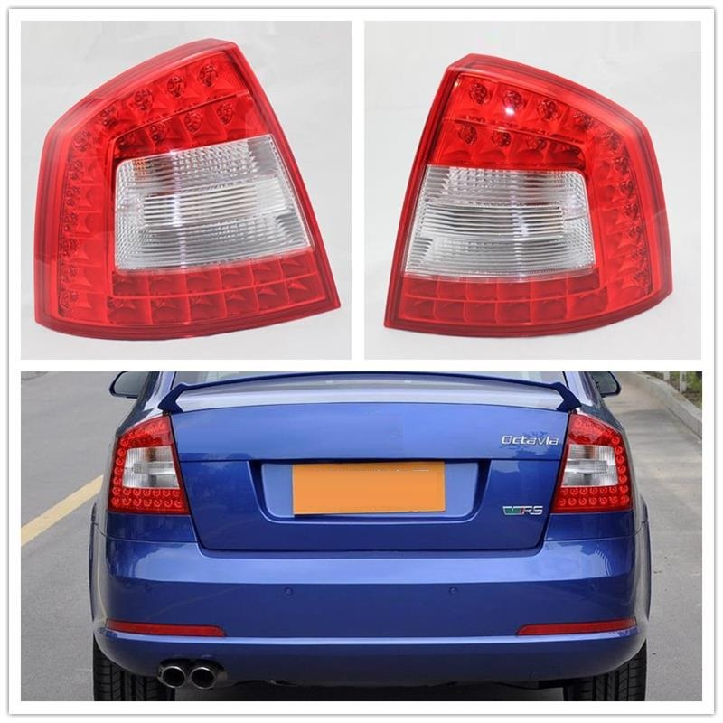 LED Real Light For SKODA Octavia A6 RS 2009 2010 2011 2012 2013 Car-styling Original LED Car Rear Lights Tail Light car rear trunk security shield shade cargo cover for kia sportag 2007 2008 2009 2010 2011 2012 2013 black beige