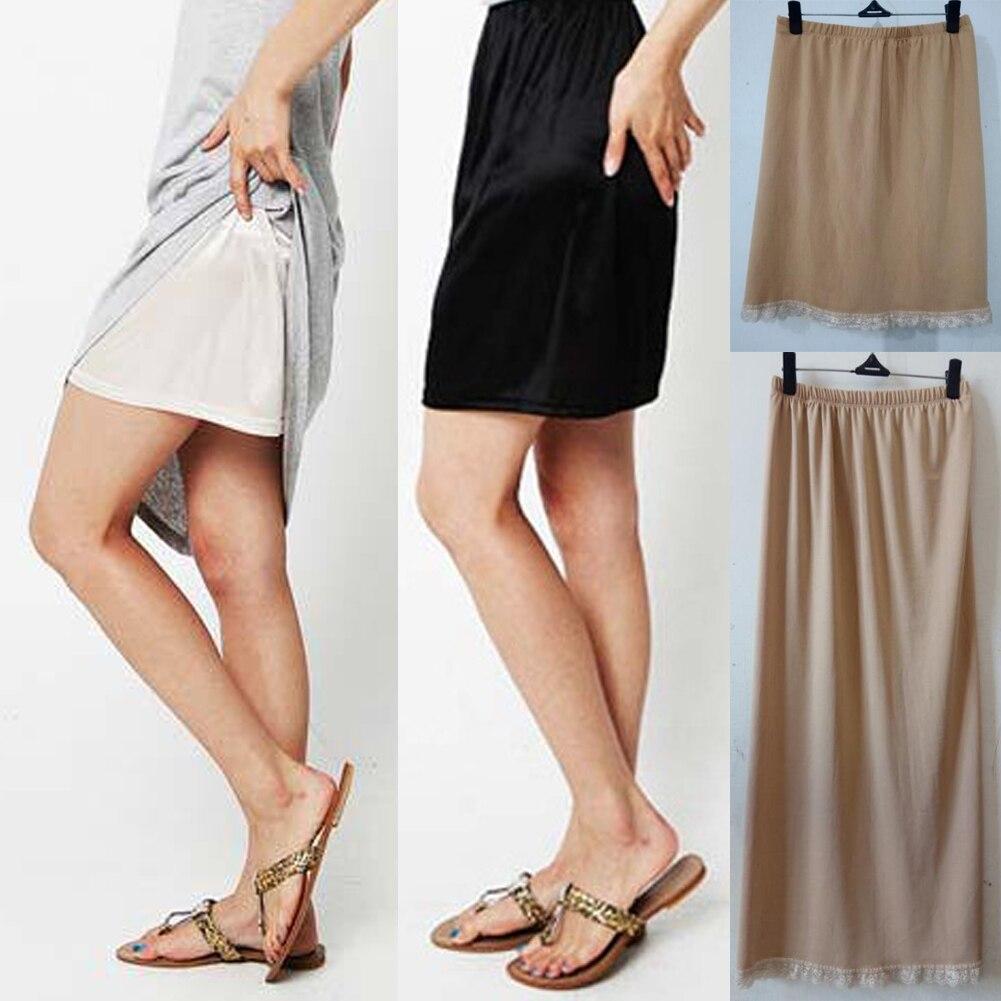 Sommer Sexy Dessous Frauen Casual Unterröcke Damen Grundlegende Mini Rock Unterkleid Lose Hälfte Rutscht Petticoat Unterröcke