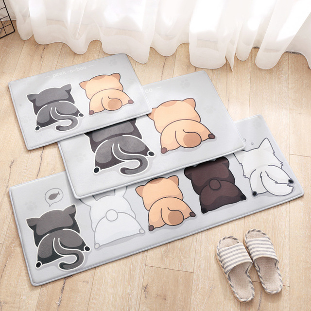 Cartoon Geschenk Eule Teppich Küche Teppiche Matten Anti Slip Boden ...