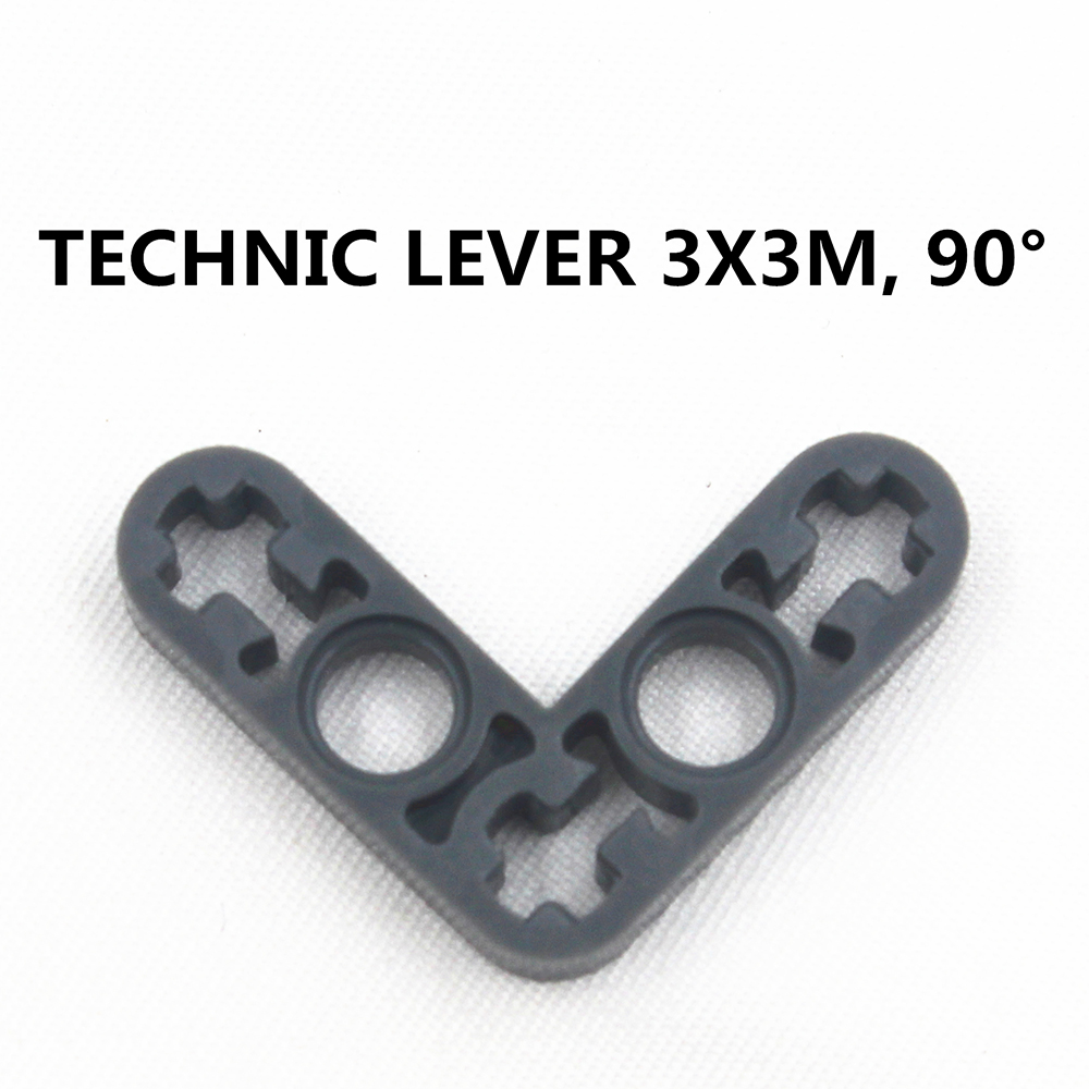 Building Blocks Bulk MOC Technic Parts 20pcs TECHNIC LEVER 3X3M, 90DGE Compatible With Lego For Kids Boys Toy