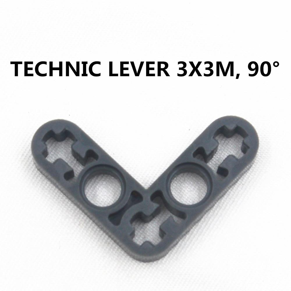 Building Blocks Bulk MOC Technic Parts 20pcs TECHNIC LEVER 3X3M, 90DGE Compatible With Lego For Kids Boys Toy