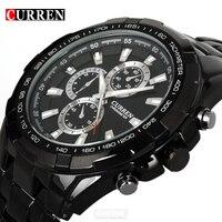 Curren Quartz Stainless Steel Black Vogue Business Man Men S Watch 3ATM Waterproof Dropship Hot Sale