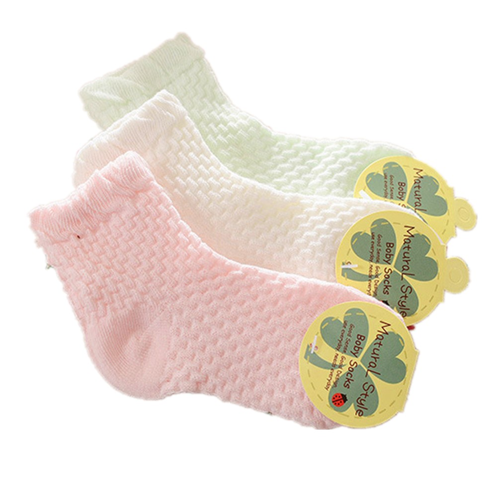 0-12 Years Children Socks 5 Pairs Breathable Baby Girls Hobby Sox Kids Anklets Boys Hose Pure Solid Socks For Girls Pure Solid 9