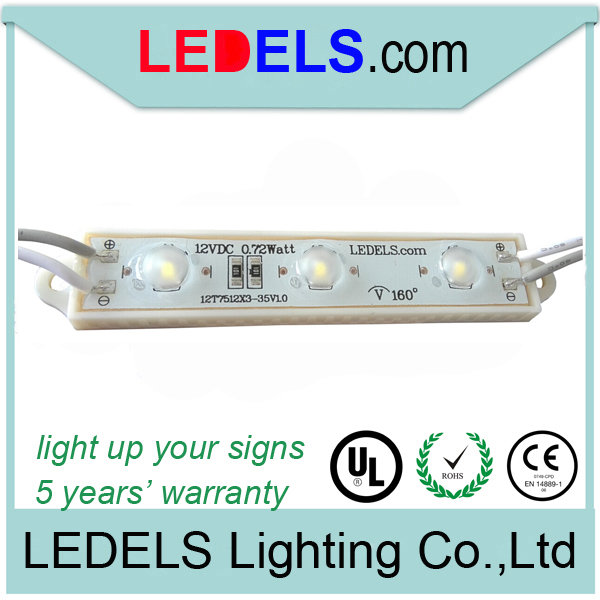 ip66 Powered by everlight smd 2835 led module 2835 epoxy 160degree led module 2835 for signage channel letter outdoor