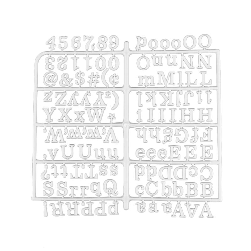 White Characters For Felt Letter Board 250 Piece Numbers For Changeable Letter Board