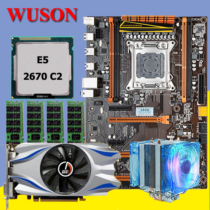 New arrival!!!HUANAN deluxe X79 motherboard set Xeon E5 2670 C2 with CPU Fan RAM 16G(4*4G) DDR3 RECC Video card GTX650Ti 2GDDR5 maison jules new vanilla metallic sweater msrp $79 5 dbfl