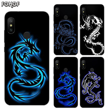 цена на Printed Silicone Case For Xiaomi Xiomi Redmi 4 4A 4X 5 5A 5 Plus 6 Pro 6A S2 Note 2 3 4 5 6 Heart Cover Beautiful Dragon Sketch