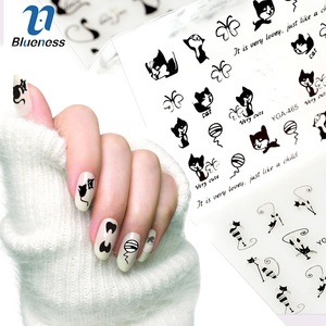 Image 3 - 12Pcs/Lot 3D Lovely Cartoon Cat Design Plastic Nail Art Decoration Stickers For Nails Manicure Rhinestones Supplies Decals JH240
