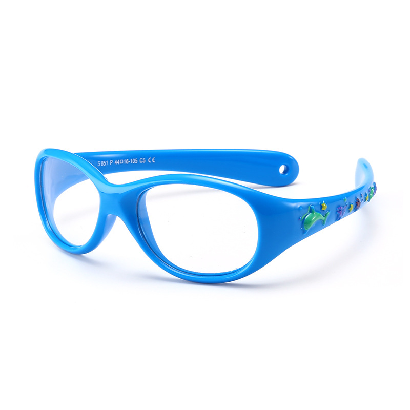 0-3 Years Small Baby Glasses For Children Eyeglasses TR90 Silicone Amblyopia Glasses Frames For Kids Optical Frame Soft P851