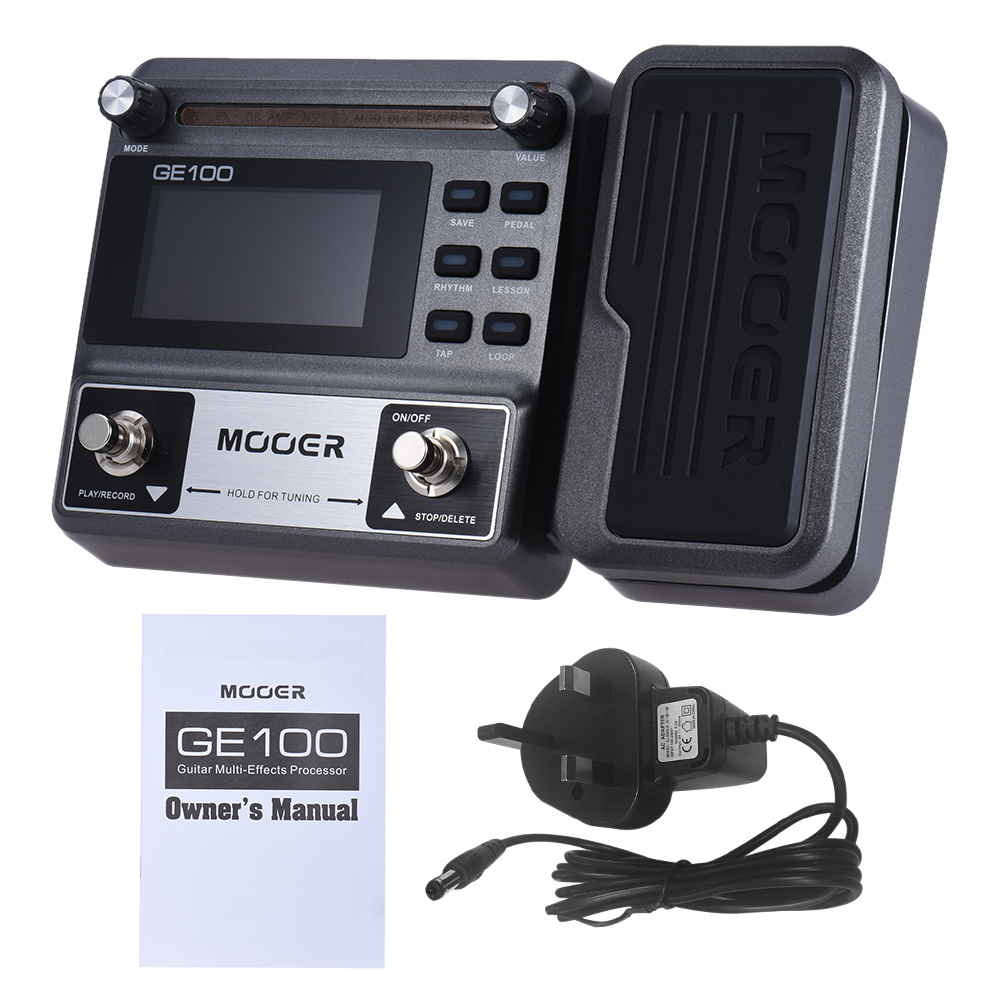 mooer ge100 guitar pedal multi effects processor effect pedal with loop recording 180 seconds. Black Bedroom Furniture Sets. Home Design Ideas