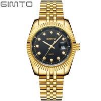 Brand Men S Watch Business Men S Watch Gold Steel Band Fashion Luxury Diamond Man S