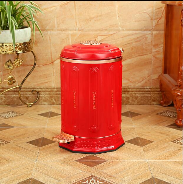 European10L Stainless Steel Metal Trash Bins Prullenbak Can Garbage Bucket Poubelle  Salle De Bain For Wedding Decoration LJT026