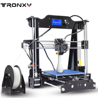 Tronxy X8 model Newest 3D Printer 12864 LCD display aluminium MK3 heatbed MK8 direct extruder DIY full kits