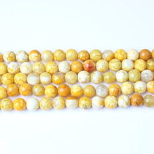 LanLi  8mm natural Jewelry Loose Beads DIY Fashion bracelet necklace ear stud Accessories
