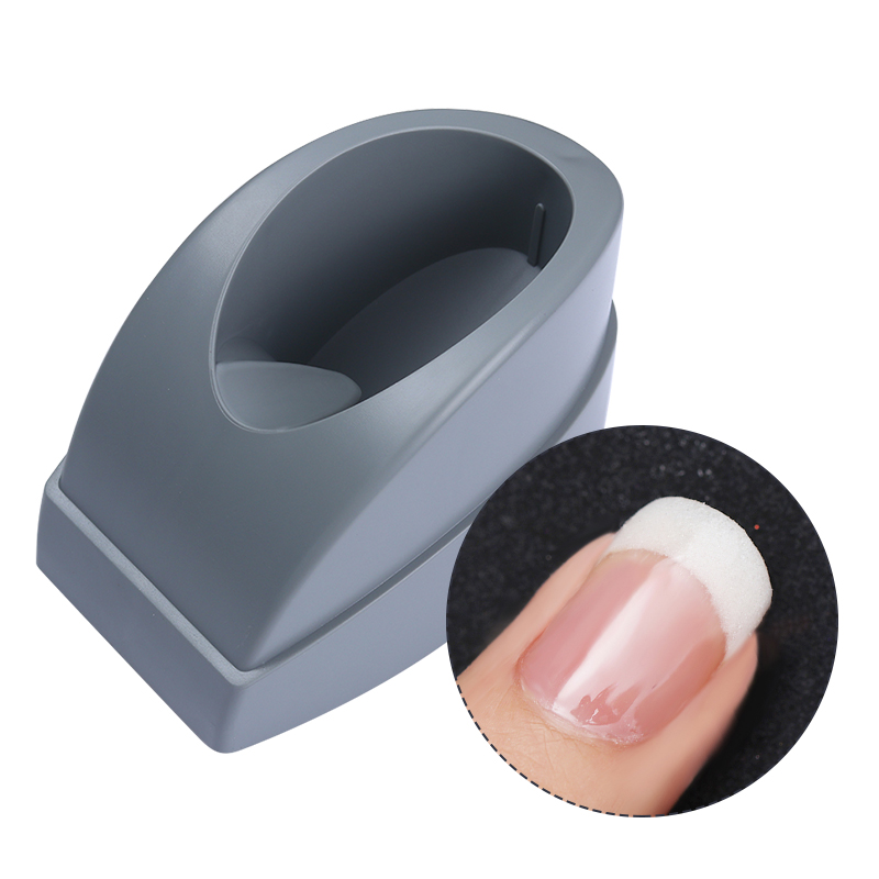 French Dip Nail Equipment Grey Smile Line Maker Nail Tips Mold Guides Nail Container Plastic Nail Art Manicure Tool 1 roll 10m clear nail double side nail adhesive tape strips tips transparent manicure nail art tool