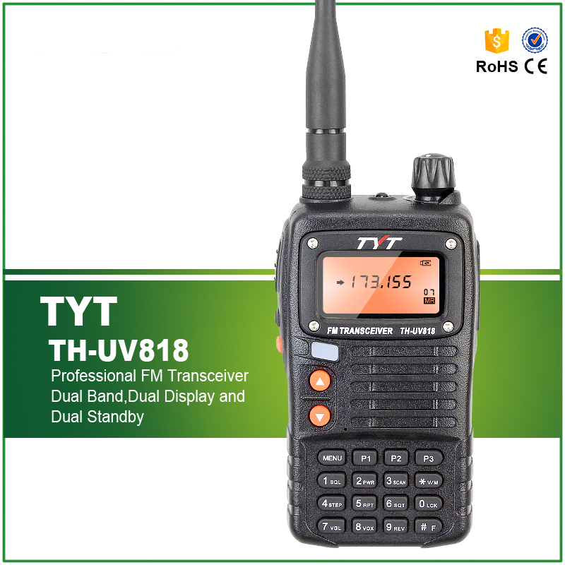 100% Original TYT TH-UV818 talkie-walkie 5 W VHF + UHF 128 mémoire CH VOX FM Radio double bande affichage Portable Radio Interphone