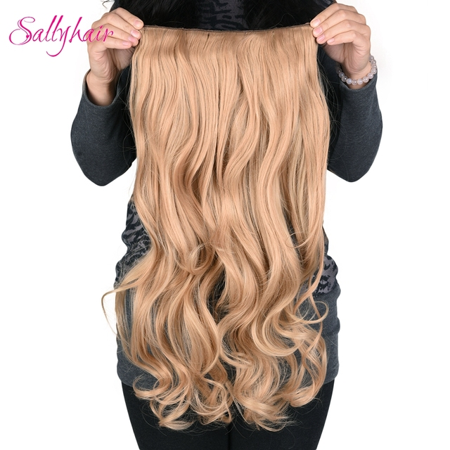 Sallyhair 190g 24inch Clip In One Hairpiece Synthetic Hair