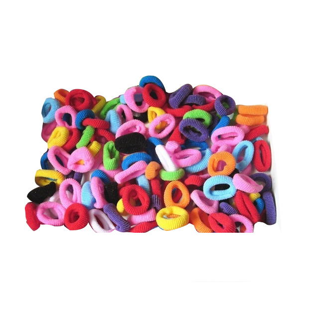 90 Pcs Pack Elastic Candy Color Girl s Towel Hair Ropes Kids Hair Bands Color Multicolor