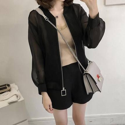 Summer Jacket Women Sunscreen Coat 2019 Casual Perspective Long Sleeve Women's Jacket Thin Breathable Beach Cardigan coats 35