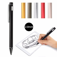Universal 2.0mm Multi Color Rechargeable Active Stylus Capacitive Screen Touch Drawing Pens Screen Pen USB Charging For Phones
