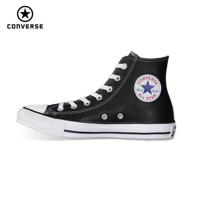 c560fd2cee3 Alto estilo couro pu original Converse Chuck Taylor all star tênis baixos  Sapatos de Skate das