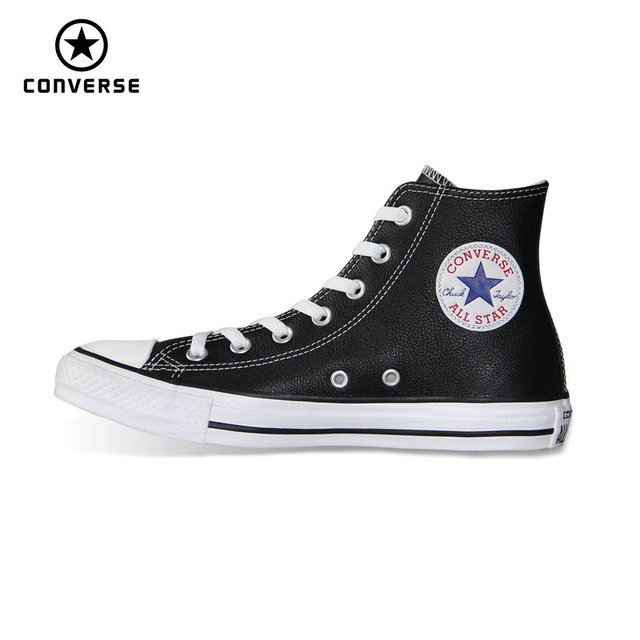 e74d2b200a92e high style Chuck Taylor pu leather original Converse all star men women  unisex sneakers low Skateboarding
