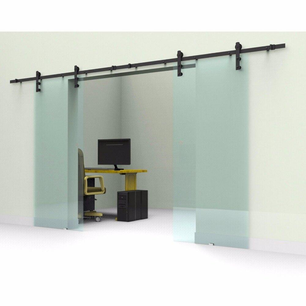 Usa Free Shipping 10ft12ft Rustic Black Sliding Glass Barn Door