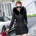 2016 New Fashion Winter Coat Women Winter Jacket Women  fur collar hooded warm winter coat Down B728