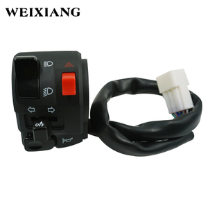 """Image 2 - 7/8"""" 22mm Motorcycle Switches Motorbike Horn Button Turn Signal Electric Fog Lamp Light Start Handlebar Controller Switch"""