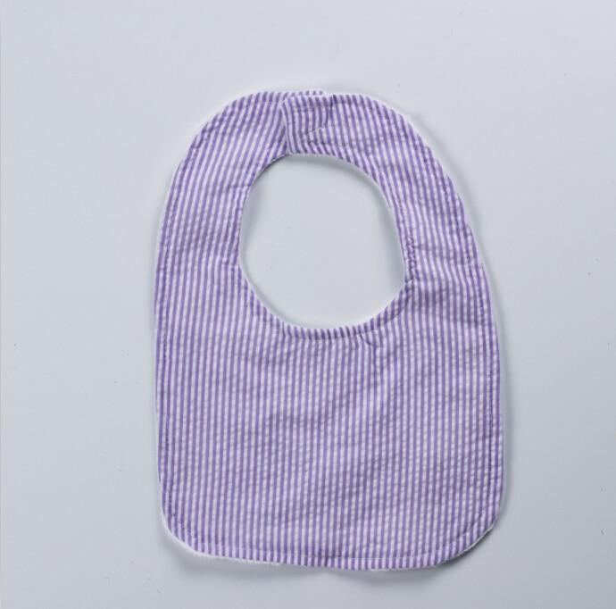 Wholesale Embroidered Seersucker minky baby kid bibs Chevron Baby Bib bandana baby bibs Monogrammed Customize Seersucker Bib