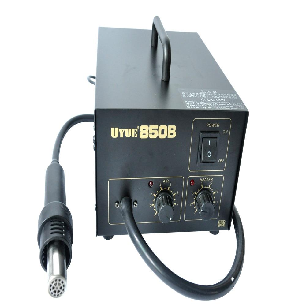 850B Rework Desoldering Soldering Stations with Heat Hot air Gun SMD ESD Tips BGA Hot Air 3 Nozzles 270W szbft atten hot air gun heat gun heating element ceramic heater a1146b for 850b 850b 850d 850db 852d 8502b