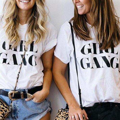 Women Fashion Casual Summer Short Sleeve T-Shirt Loose Tops Ladies Slogan Tee T Shirt Women O-neck Short Casual Cotton Shirt
