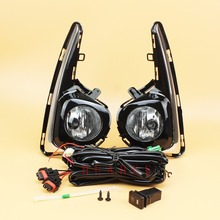 For 2018 - 2019 Toyota Yaris Hatchback Bumper Fog Lights Direct Replacement Car Lamp Assembly w/Bezel + Switch + Wire +Bulb(H16)