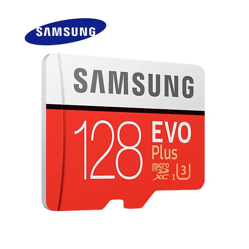 SAMSUNG Micro SD Memory Card EVO+ 128GB 100MB/s SDXC C10 U3 UHS-I MicroSD TF Card EVO Plus 128G Class 10 Grade 3 100% Original micro sd card 128gb class10 tf card pro sdxc u3 sd card ultra high speed flash memory card with retail packaging