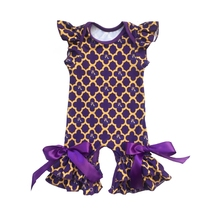Icing Romper Baby gown for summer football baseball season