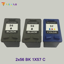 2pk Black & Color Ink Cartridges for HP 56 57 C6656AN C6657AN For PSC 2175Xi 2210 2210V 2410 2410V 2410Xi 2510