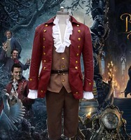 2017 Movie Beauty And The Beast Cosplay Gaston Costumes Anime Party Halloween Carnival Costume Free Shipping