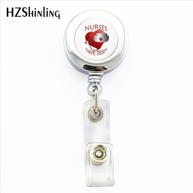 2017 New Nurses Have Heart Badge Holder Doctor Medical Symbo ID Card Holders Wit