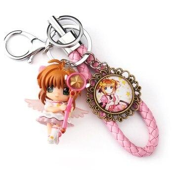 card captor card captor sakura  keychain key bag charm pendant hang chain keychain wands