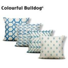 Funda de cojín geométrica cojín con zigzag funda Vintage para decoración y decoración de tocados funda de almohada de 18 pulgadas de poliéster/algodón