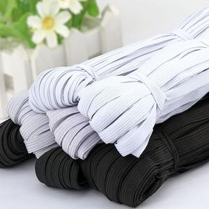10Meter 3/6/9/10/12MM Sewing Elastic band White Black Polyester Rubber Elastic Cord for Masks Clothes Garment Sewing Accessories