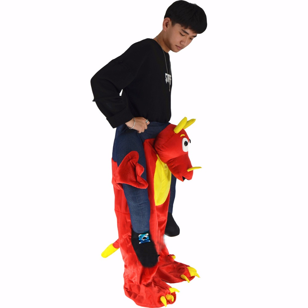 Christmas Halloween Deluxe Costumes for Adult Ride on Dragon Costume ...