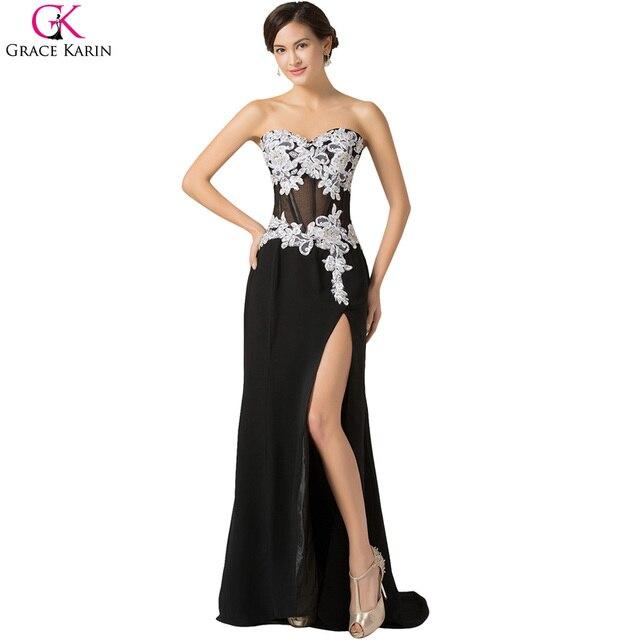 Sexy Lange Abendkleid Transparent Robe Gnade Karin Chiffon Hoch ...
