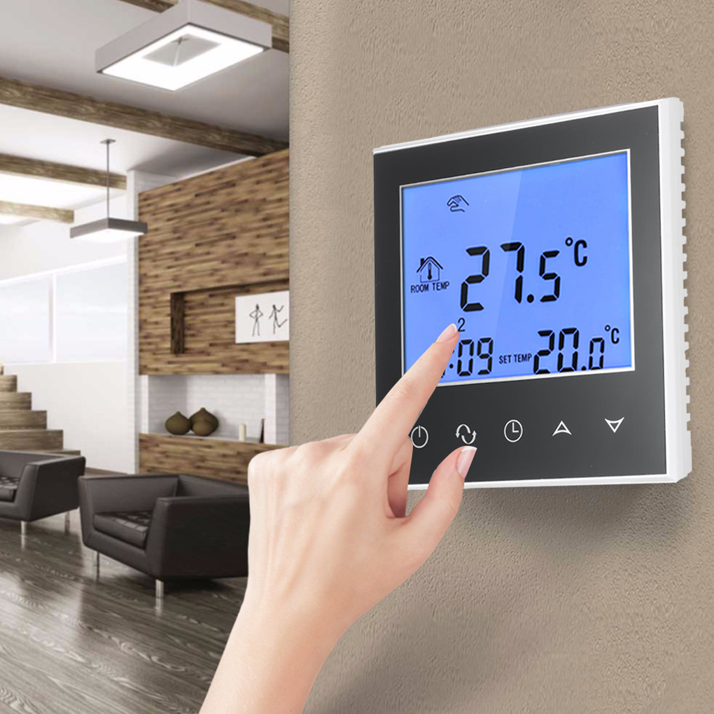 Water Floor Heating Thermostat with Touchscreen Smart WIFI Programmable Temperature Controller with LCD Display 3A 200-240V 7 24h programmable adjustable thermostat temperature control switch with child lock