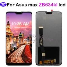 Dla ASUS Zenfone Max plus (M2) ZB634KL wyświetlacz LCD ekran dotykowy digitizer zgromadzenie 6.26 dla ASUS MAX strzał ZB634KL lcd