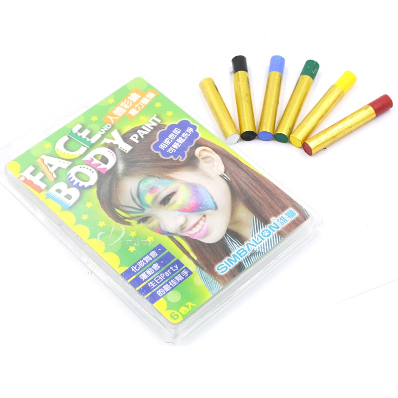 6 pcs/Lot Magical color face and body painting pens Erasable make up Fancy kids gifts School Party supplies FB888