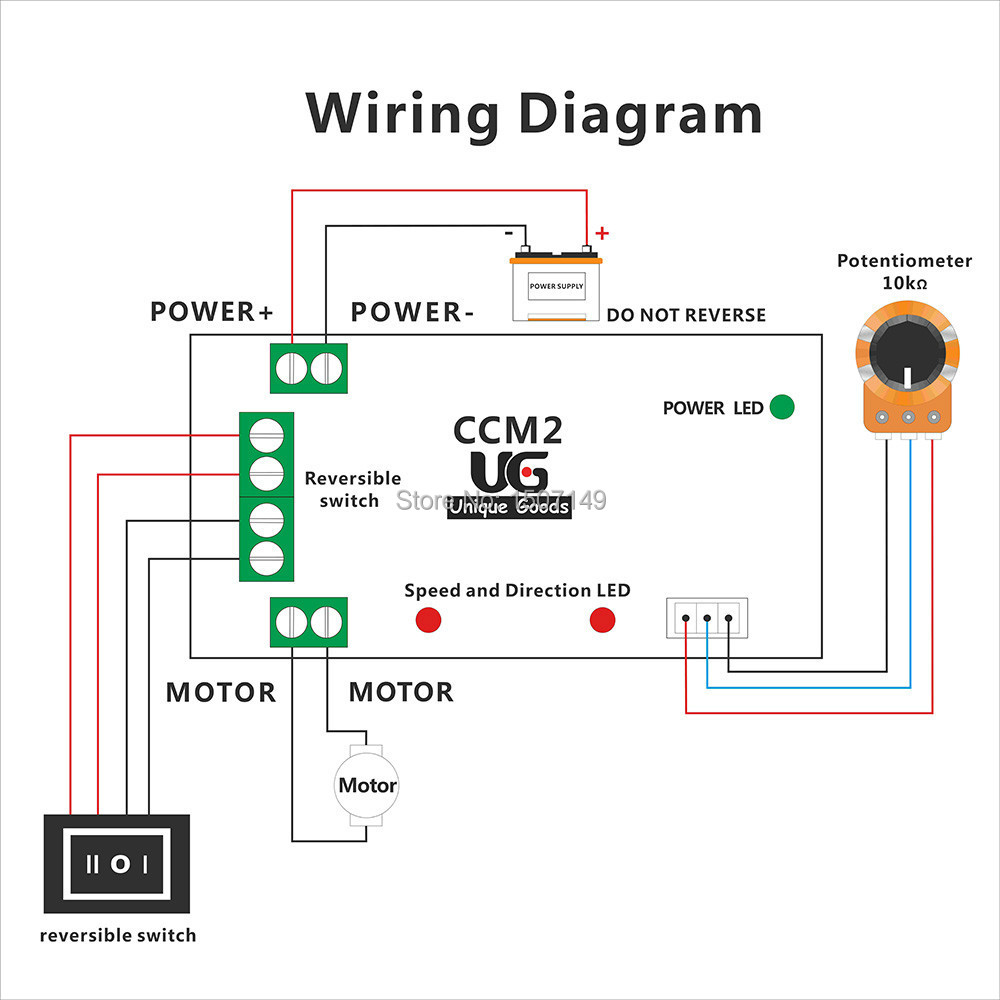 12v rheostat motor control wiring diagram diy pwm current for Forward reverse dc motor control circuit