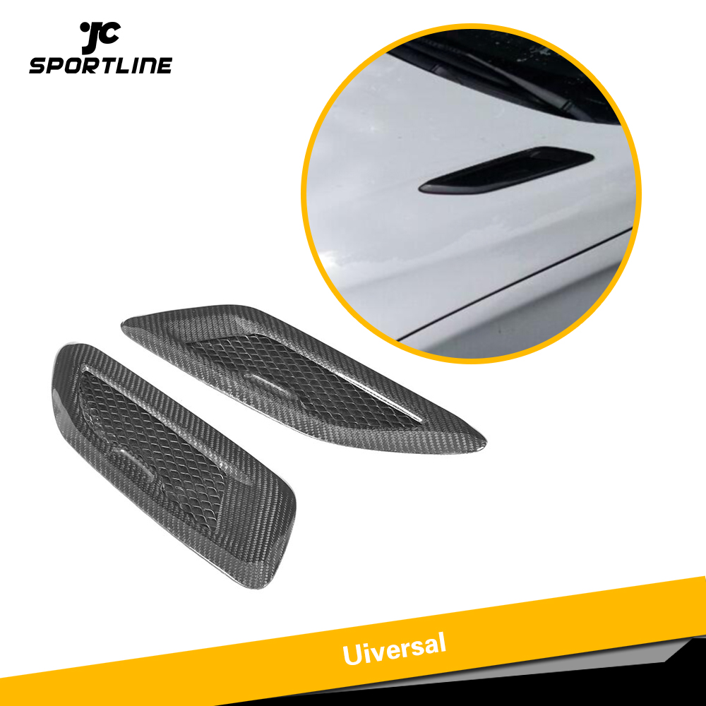 Universal Carbon Fiber Hood Bonnet Air Vents for BMW F80 F82 F83 E46 E90 For Audi A3 A4 A5 S3 S4 S5 Benz Accessories
