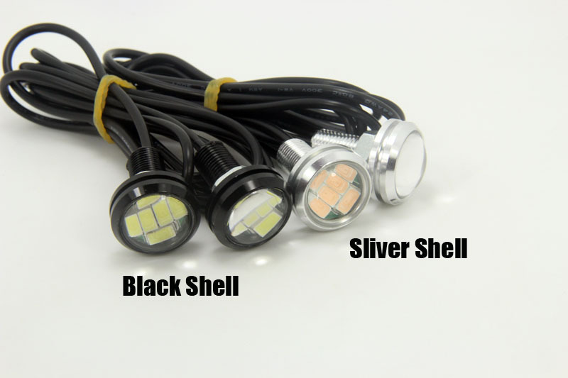Bil LED-lampor 12V 23MM 6SMD LED Multicolor Eagle-ögon Ljus - Bilbelysning - Foto 3