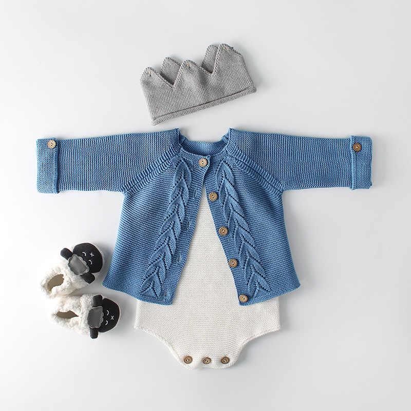 Frühling Baby Jungen Strampler Herbst Infant Baby Mädchen Tragen EINE Blatt Gestrickte Overall Wolle Baby Kleidung Strickjacken Strampler Kinder Mantel